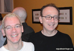 Photo of Michael Stark and Michael Leshner by equalmarriage.ca, 2001