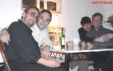 Michael Hendricks and Rene Leboeuf (foreground), Joe Varnell and Kevin Bourassa (background) - Photo by equalmarriage.ca, 2002