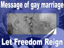 Message of gay marriage: Let freedom reign