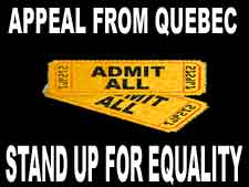 Appeal from Quebec: Stand up for equality
