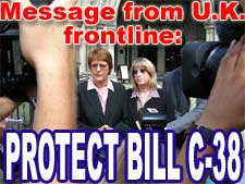 Message from U.K. frontline same-sex marriage advocates:  Protect Bill C-38