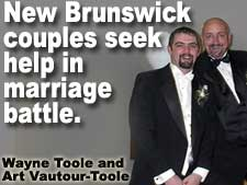 Gay marriage advocates in New Brunswick appeal for help in mounting a campaign for marriage equality.