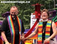 Brent Hawkes and Jo Bell (Photo by equalmarriage.ca, 2006)