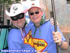 Joe Varnell and Kevin Bourassa (Photo by equalmarriage.ca, 2006)