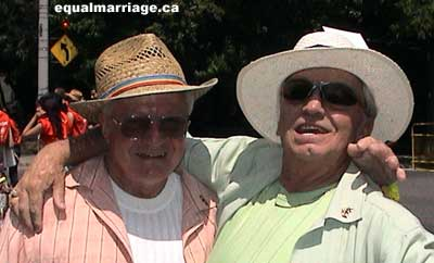 Robert Berry and Les Sheare (Photo by equalmarriage.ca, 2006)
