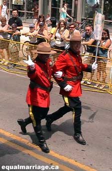 Mounties (Photo by equalmarriage.ca, 2006)