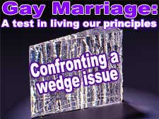 Gay marriage: a test in living our principals