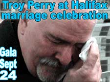 Troy Perry at Halifax marriage celebration