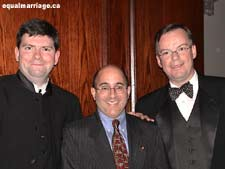 Joe Varnell, Evan Wolfson, and Kevin Bourassa, photo by equalmarriage.ca, 2002